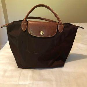Longchamp Brown Small Tote Bag
